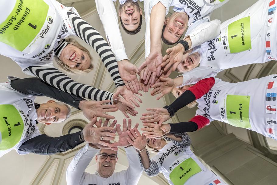 Team Nationalrat am SOLA-Laufsportfest (Nov. 2018)